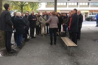 TeilnehmerInnen am Bahnhof Dornbirn