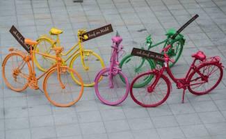 die bunten fahrräder von ich kauf im wald